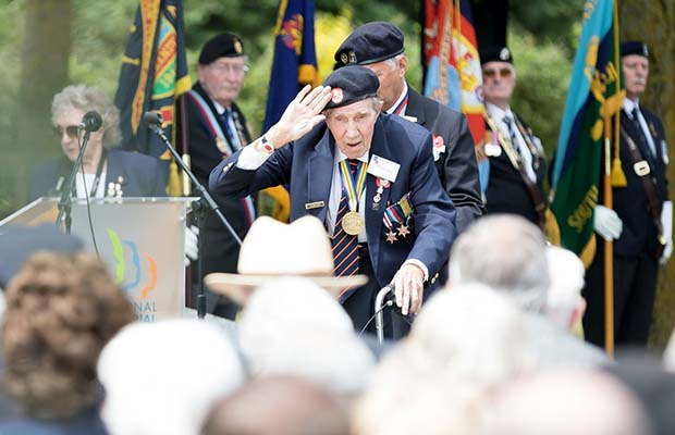 The D-Day ceremony at the National Memorial Arboretum. Pic: Defence School of Photography