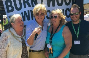 Michael Fabricant with Cllr Pam Stokes, Cllr Heather Tranter, and Cllr Richard Bamborough