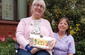 Lynda Ward with Heather Hemming from the St Giles Hospice day hospice