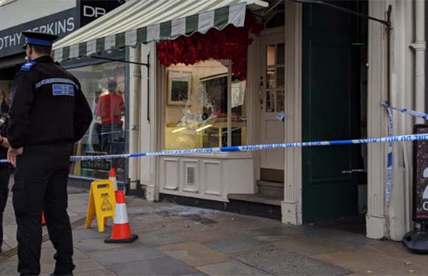 Police outside City Jewellers
