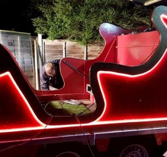 Work taking place on the new Lichfield Round Table sleigh