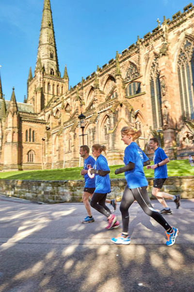 Runners checking out part of the Cathedral to Castle route