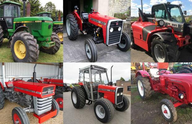The stolen tractors