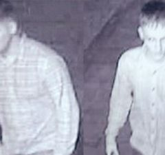 Two men police want to speak to in connection with the attack