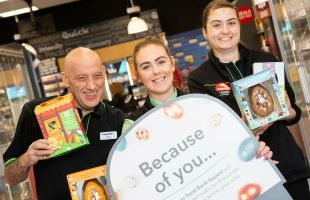 The launch of the Easter foodbank appeal