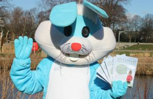 Beacon Park's Easter bunny