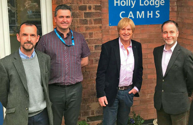 The Child and Adolescent Mental Health Service's general manager David Pike and deputy manager Paul Andre with MPs Michael Fabricant and Christopher Pincher