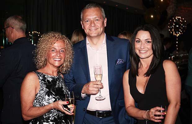 Angela Millward, head of HR, Richard McNeilly, managing partner, and HR advisor Rachel Wakefield at the Dains celebration