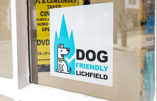 A Dog Friendly Lichfield sticker