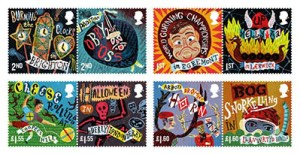 The new Curious Customs stamps