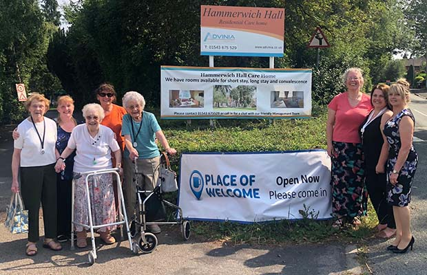 The launch of Places of Welcome at Hammerwich Hall Care Home