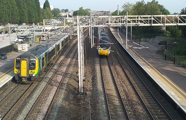 The West Coast Main Line at Lichfield Trent Valley station