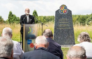 A service to unveil the new Oddfellows memorial