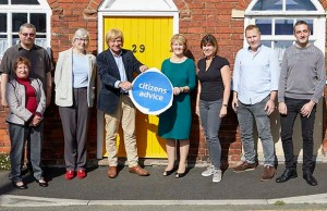 Michael Fabricant with members of the Citizens Advice team