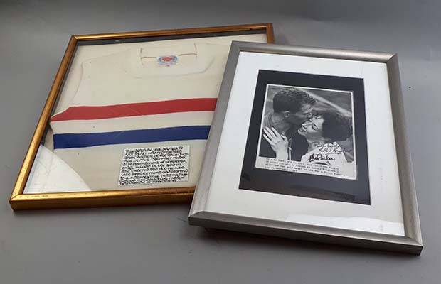 Some of the items from Jan Webster's collection