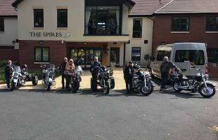 Some of the bikers who accompanied Ann on her journey