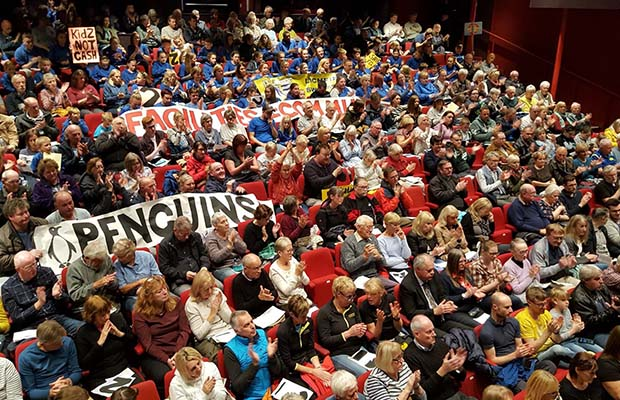 Residents and campaigners at the Cabinet meeting in the Garrick