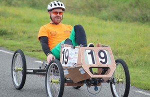 The Lichfield Re:Cycle pedal car in action