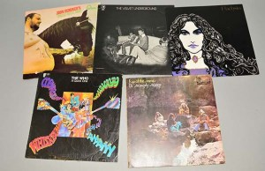 Some of the records going up for auction in Lichfield