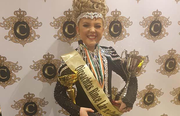 Heidi Hawkes with her Midlands Regional trophies