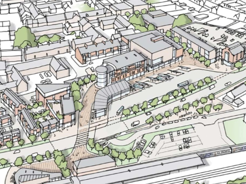 City centre masterplan artist's impression