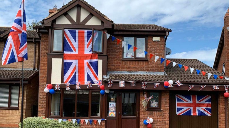 Flags flying proudly in Armitage