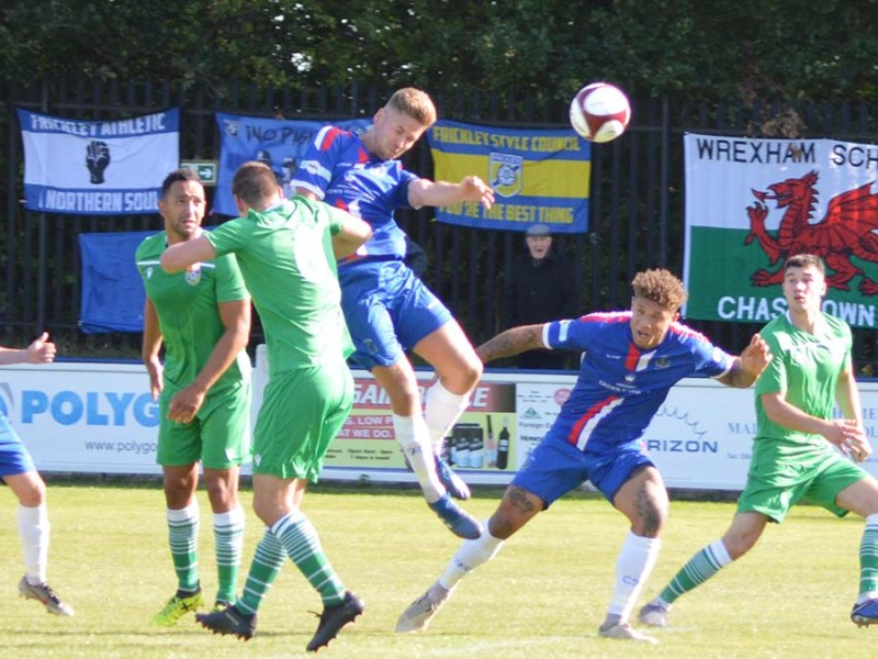 Action from Chasetown's game against Frickley Athletic