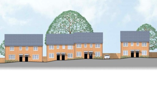 An artist's impression of the new properties that could be built on land off Leyfields