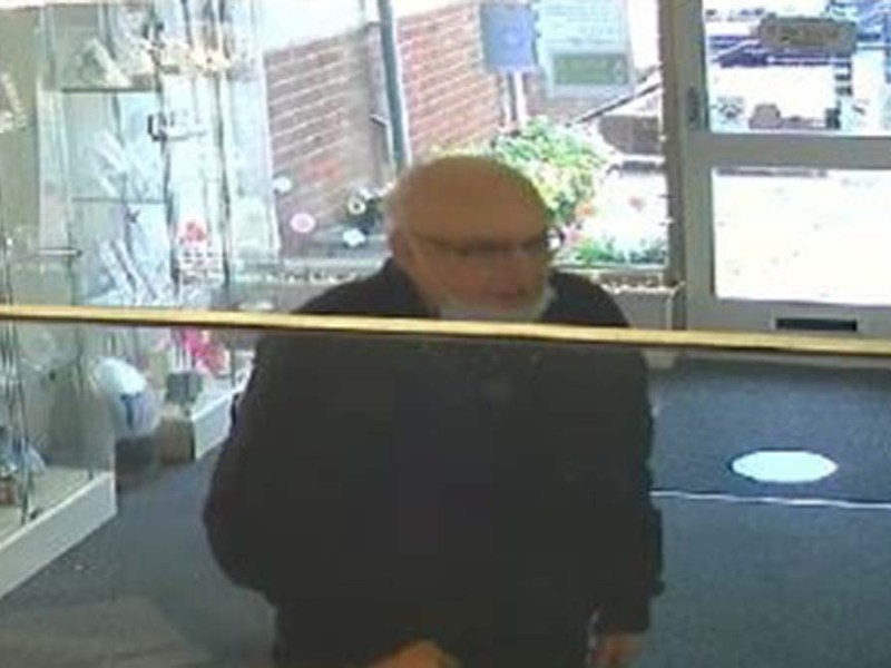 The CCTV image of the man police want to speak to