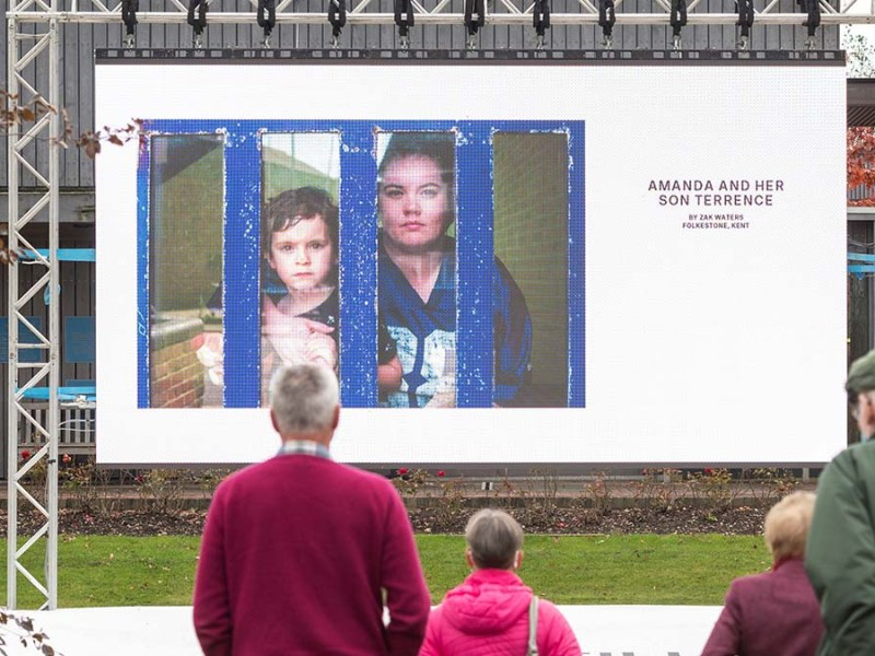 One of the images in the Hold Still exhibition at the National Memorial Arboretum. Picture: National Memorial Arboretum