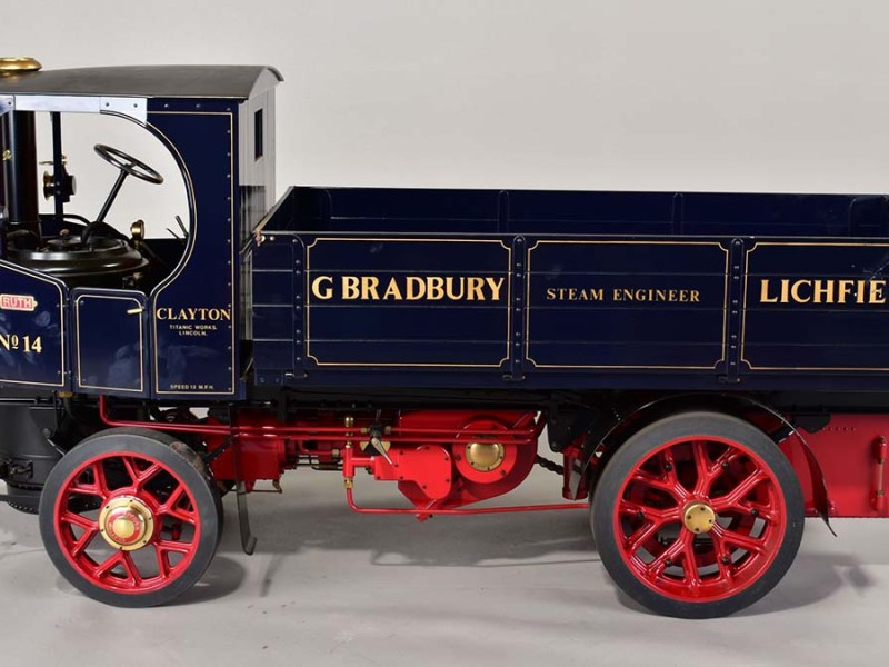 One of the steam wagons being sold at auction