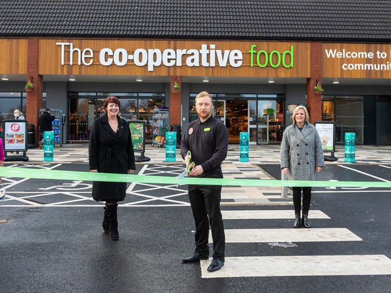 The ribbon is cut on the Central England Co-op store at Boley Park