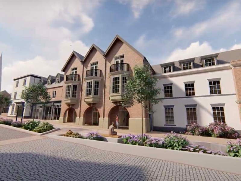 An artist's impression of part of the new development