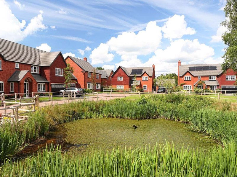 An artist's impression of the new homes at Elford