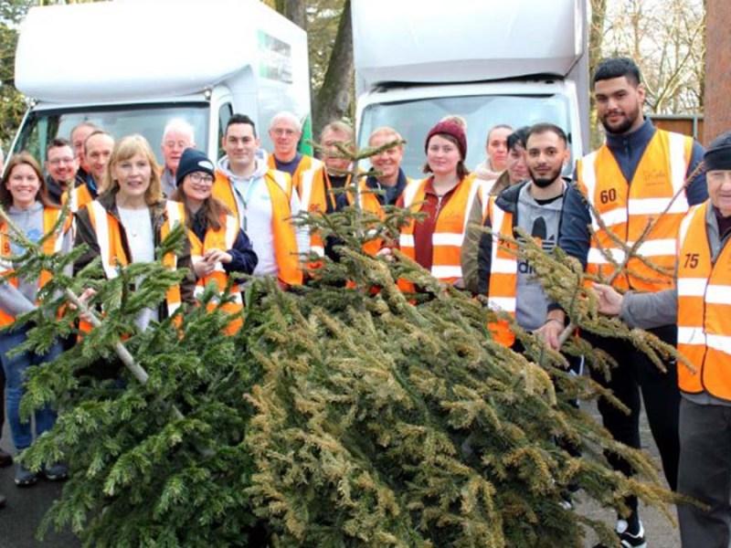 Volunteers taking part in TreeCycle last year