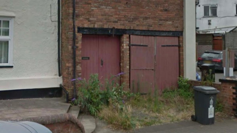 The building earmarked for the workshop and apartments