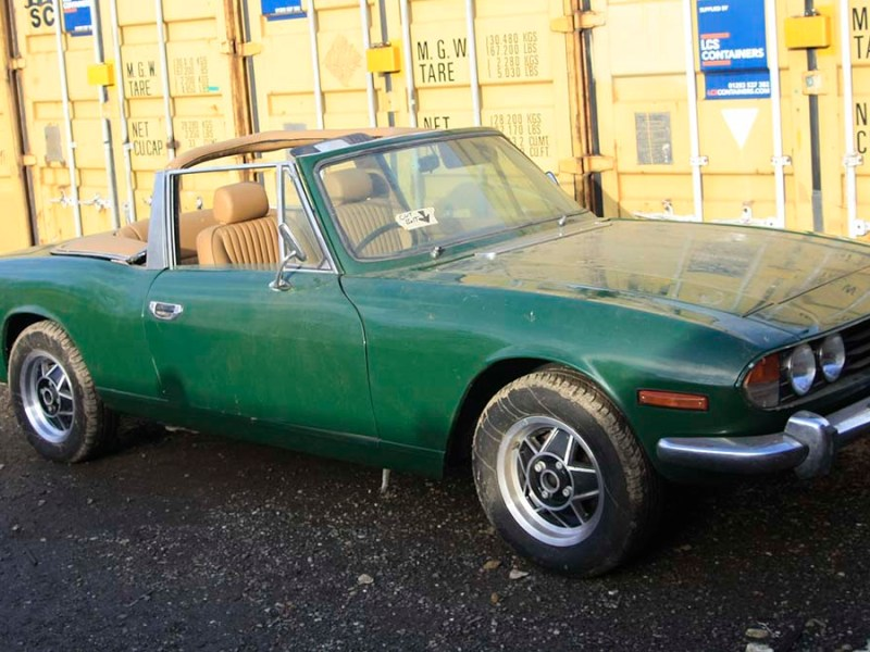 The Triumph Stag being sold at auction in Lichfield