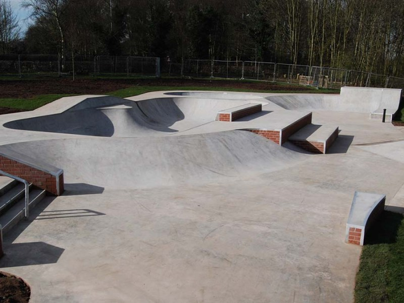 The skatepark at Beacon Park