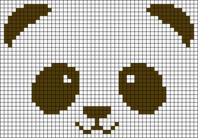 17.Как нарисовать панду по клеточкам