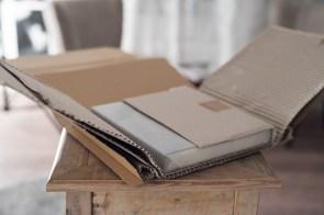 Nur Pappe und Seidenpapier