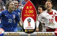 Tỷ lệ cược, kèo Croatia vs Đan Mạch, 01h00 ngày 2/7/2018
