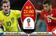 Tỷ lệ cược, kèo Thụy Điển vs Thụy Sỹ 21h ngày 03/07