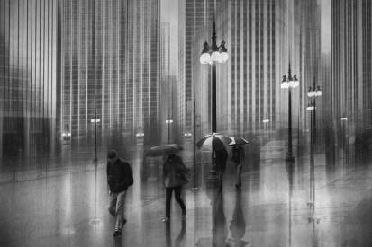 Roswitha Schleicher-Schwarz - Regen in Chicago