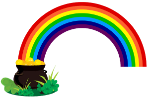 Regenbogen zien