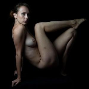 nude woman in studio