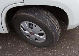 Sehr gute Traktion mit den Camper-Reifen.