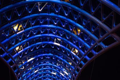 Freidensbrücke im Zeichen Europas