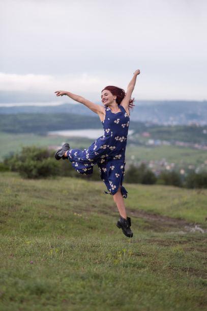 Sprung über Tbilisi
