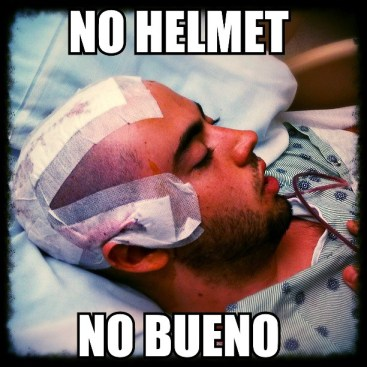 No Helmet No Bueno1 by Peter Berry