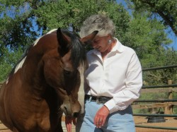 Judy Schneider, Equine Therapist with Guapito